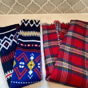 Winter Scarf Bundle Plaid Designed